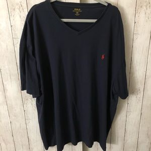 Dark Blue 3XB V-Neck T-shirt